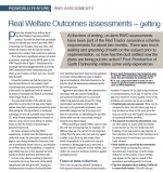 Real Welfare Outcomes assessments